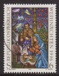 Austria SG2448 1996 Christmas 6s good/fine used
